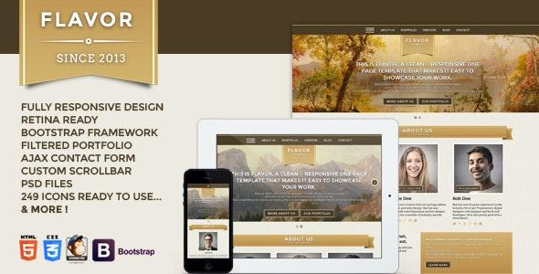 Flavor Premium One page Responsive Template  - Portfolio Creative