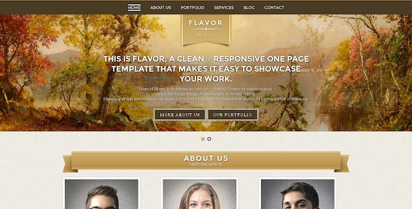 Flavor Premium One page Responsive Template