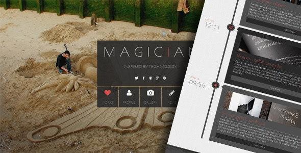 Magician - Responsive Parallax Template - Creative Site Templates