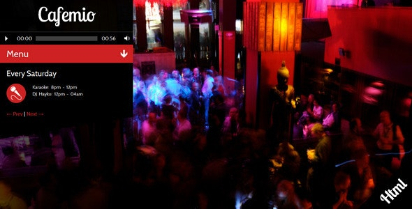 Cafemio- Club, Bar, Cafe, Restaurant HTML Template - Entertainment Site Templates