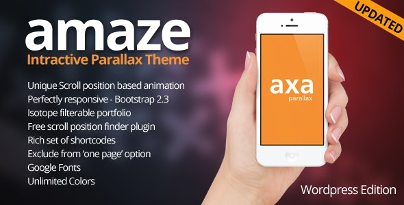 AMAZE - Wordpress Interactive Parallax Theme - Portfolio Creative