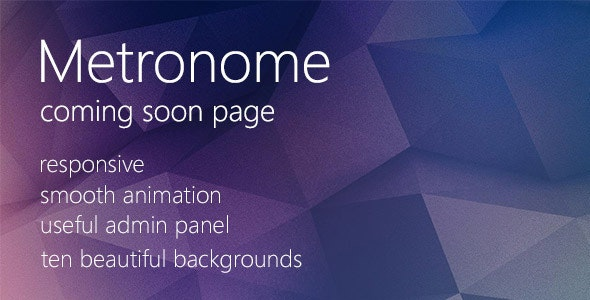 Metronome - Coming Soon Page - Under Construction Specialty Pages