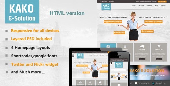 Kako Multi-Purpose HTML Template - Creative Site Templates