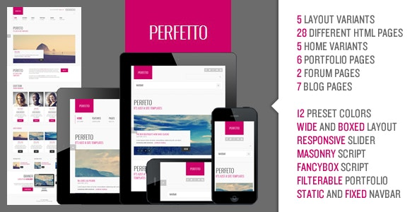 Perfetto - Responsive Bootstrap Template - Corporate Site Templates