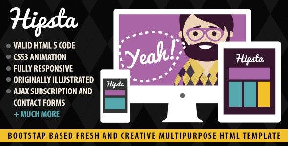 Hipsta Responsive - HTML Template - Site Templates