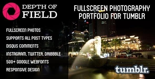 Depth of Field - Fullscreen Photography Portfolio - Portfolio Tumblr