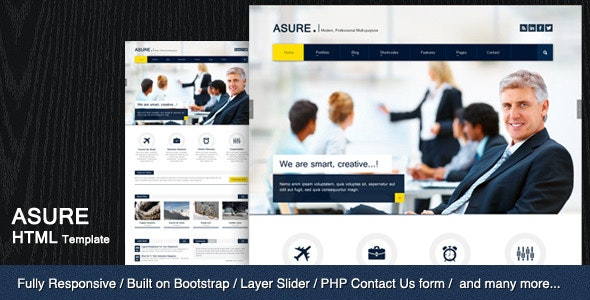 ASURE - Multi Purpose HTML Template - Site Templates