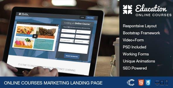 EduTime - Online Courses & Education Landing