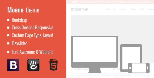 Moene - Responsive Concrete5 Theme - Portfolio Creative