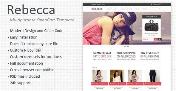 Rebecca - Multipurpose Responsive OpenCart Template - OpenCart eCommerce