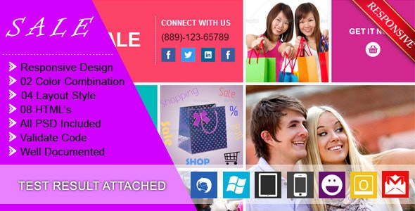 SALE - RESPONSIVE + BUSINESS + E-COMMERCE EMAIL - Newsletters Email Templates