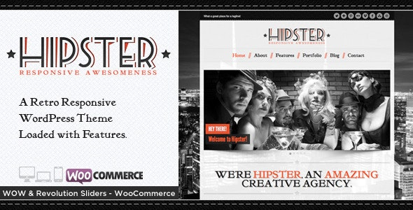 Hipster - Retro Responsive WordPress Theme - Portfolio Creative