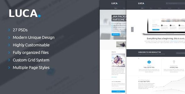 LUCA - PSD Template - Photoshop UI Templates