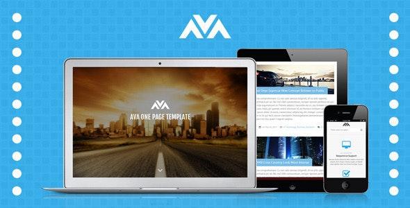 Ava Responsive One Page Template - Portfolio Creative