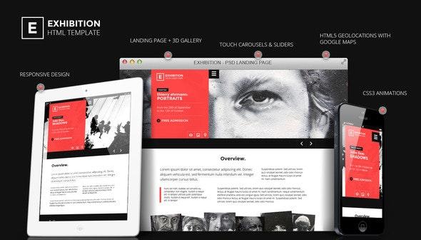 Exhibition - HTML Landing Page Art Gallery/ Muesum - Creative Site Templates