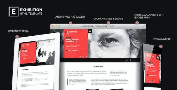 Exhibition - HTML Landing Page Art Gallery/ Muesum
