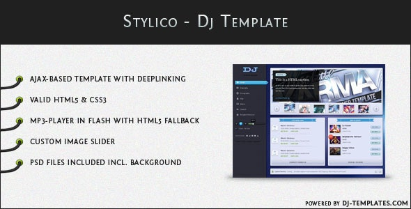Stylico - Dj Template - Music and Bands Entertainment