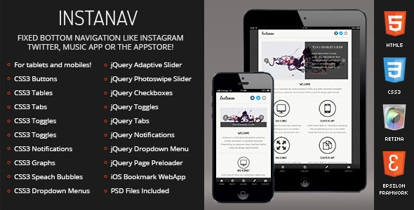 Instanav Mobile - Mobile Site Templates