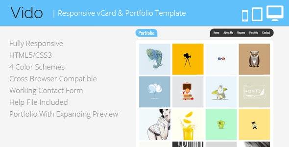 Vido - Responsive vCard Template - Virtual Business Card Personal