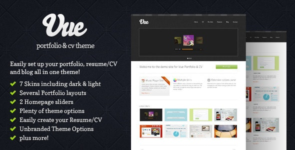 Vue - Portfolio & CV WordPress Theme - Portfolio Creative