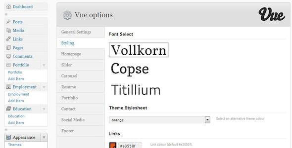 Vue - Portfolio & CV WordPress Theme