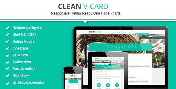 Clean Html V-card Template