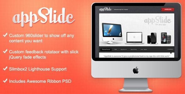 AppSlide - Professional App Site Template - Apps Technology