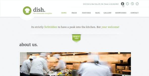Dish Multipurpose Site Restaurant Template