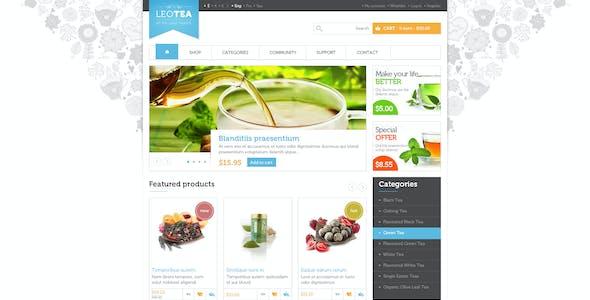 Leo Tea Shop PrestaShop Theme for Beverage & Cafe