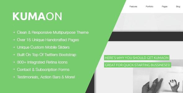 KUMAON, Clean Responsive Multipurpose Theme - Business Corporate