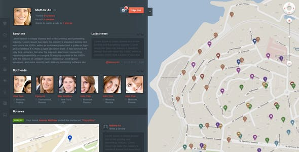 GeoMetry - design for geolocation social networkr