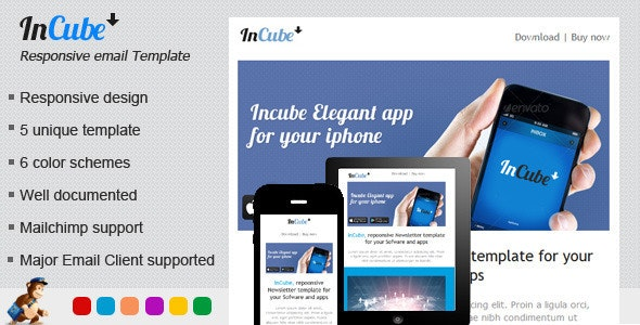 Incube Responsive HTML Email Template - Email Templates Marketing