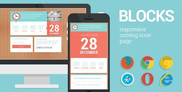 Blocks - Responsive Coming Soon page