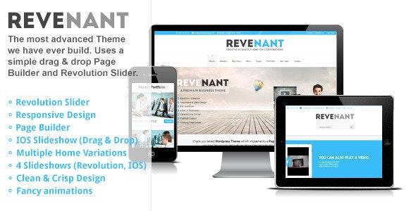 Revenant - Responsive Business Wordpress Theme - Business Corporate