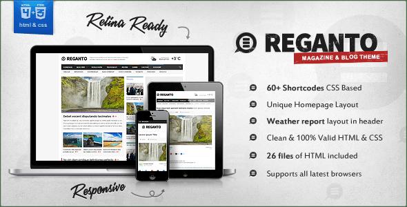 Reganto - Massive Magazine Template - Technology Site Templates