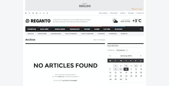 Reganto - Massive Magazine Template