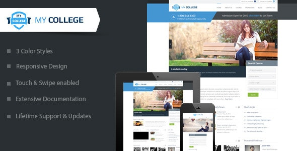My College - Premium Education WordPress Theme - Education WordPress