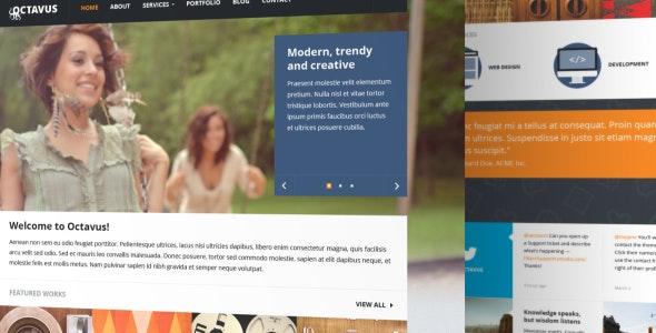 Octavus PSD Template - Portfolio Creative