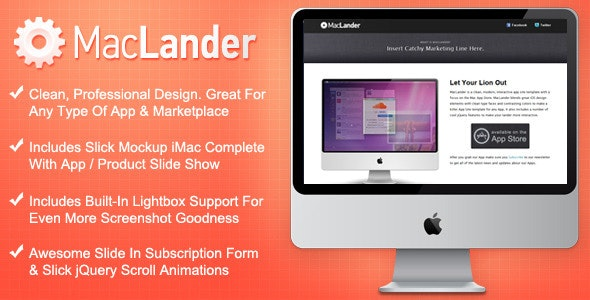 MacLander - Mac App Store Landing Page - Apps Technology