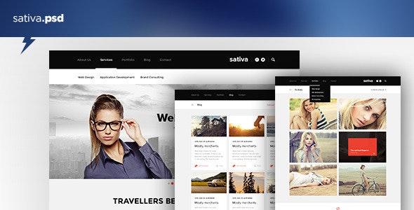 Sativa — .psd Template - Business Corporate