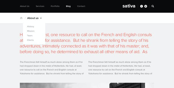 Sativa — .psd Template