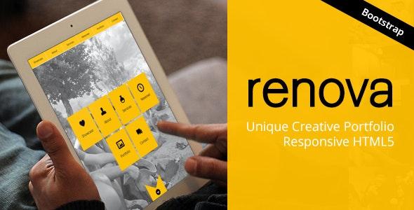 RENOVA - One Page Template - Responsive HTML5 - Portfolio Creative