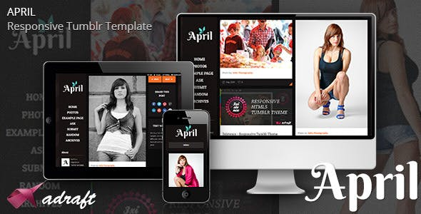 April - Responsive Tumblr Theme