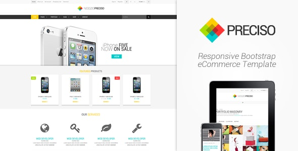 Preciso - Responsive Bootstrap eCommerce Template - Corporate Site Templates