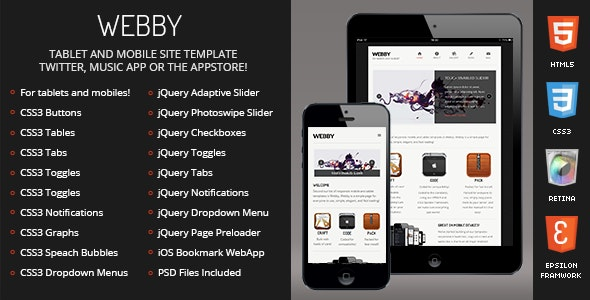 Webby Mobile - Mobile Site Templates