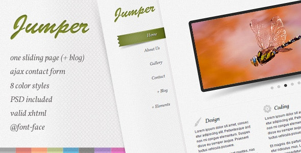 Jumper - one page template - Creative Site Templates