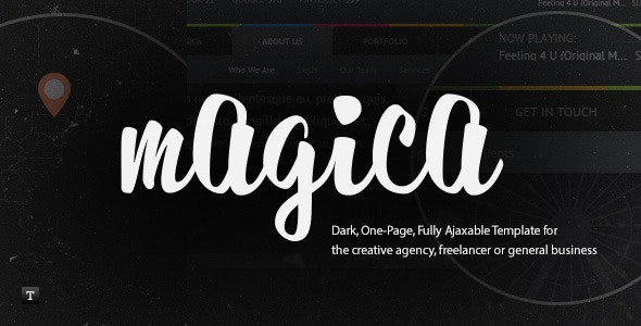 Magica - One Page, Fully Ajaxable HTML Template - Creative Site Templates