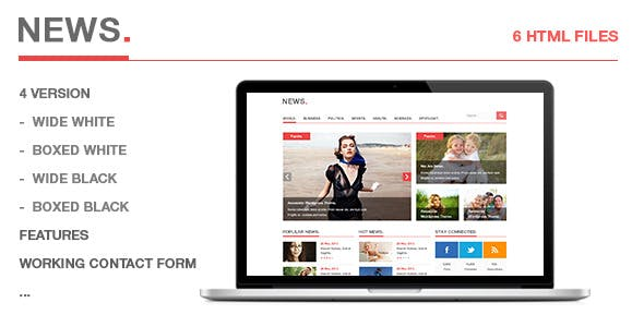 Breaking News Templates from ThemeForest
