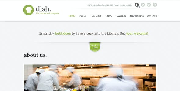 Dish Multipurpose PSD Restaurant Template