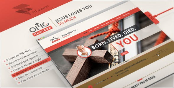 OMG - Religion Style PSD Single Page